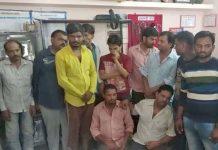 police-raid-in-gambling-and-caught-13-gamblers-in-rewa-madhya-pradesh