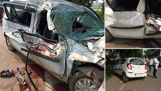 Four-pilgrims-from-chatarpur-death-during-returning-from-Chitrakoot-in-road-accident-