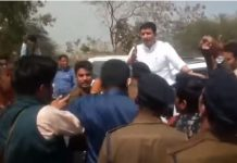 student-stopped-the-convoy-of-higher-education-minister-jitu-patwari-in-ratlam