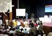 bjp-worker-enter-in-public-hearing-in-jabalpur