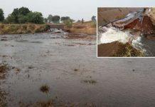 mahi-project-Canal-crack-in-jhabua--water-in-fields-