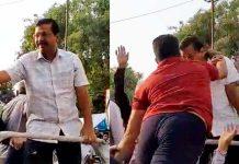 unknown-man-slaps-delhi-cm-arvind-kerjriwal-during-road-show-in-delhi