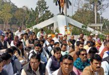 arif-masood-join-protest-against-mahatma-gandhi-haters