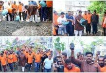 bjp-mla-rameshwar-sharma-celebrated-birthday-by-Environment-Rally-and-shramdan