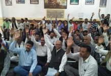 Due-to-non-receipt-of-compensation-the-farmers-angry-