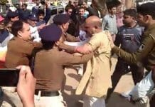 protest-of-bjp-in-gwalior-fight-with-police-