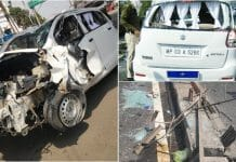 former-dig-harinarayan-chari-mishra-car-collide-with-other-vehicle-in-bhopal-2848775