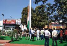 100-feet-high-Tricolor-hoisted-at-Jabalpur-railway-station