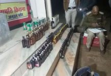 The-shopkeeper-was-selling-liquor-at-the-grocery-store