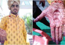 wing-commander-'Abhinandan'-in-the-groom's-hand-in-indore