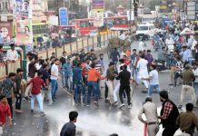 A-clash-between-ABVP-and-NSUI-