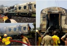 fire-broke-out-in-the-power-car-of-new-delhi-bhubaneswar-rajdhani-express-in-odisha