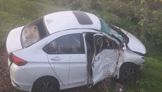 MLA-panchilal-meena-staff-car-crashed-in-sehor--injured-OSD
