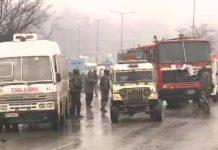 ied-blast-in-awantipora-jammu-kashmi--crpf-jawans-killed-and-injured-in-millitiant-attack-