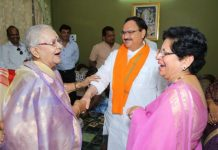 Jabalpur's-son-in-law-BJP's-Executive-President-JP-Nadda-mother-in-law--congratulated