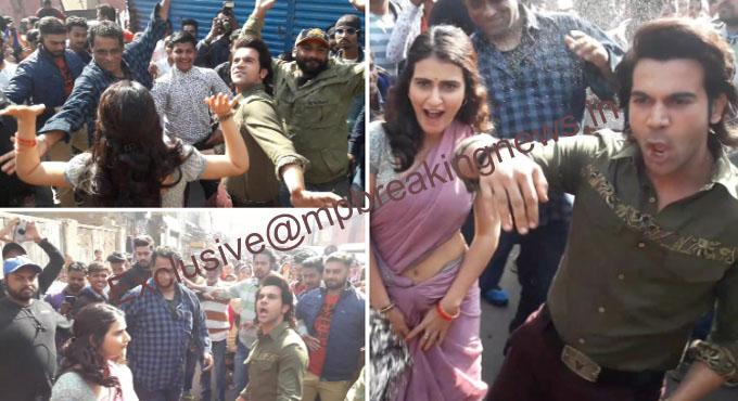 Bollywood-actors-rajkumar-rao-and-fatima-became-'Bin-Bailay-Baratati'-on-the-streets-of-Bhopal-