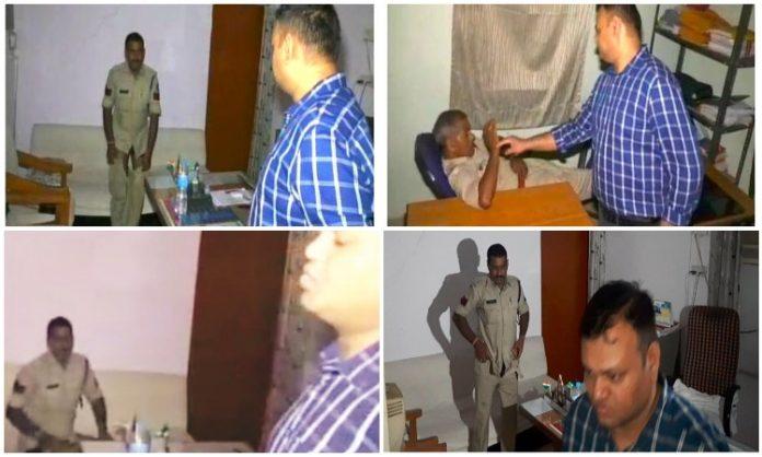 sp-visit-police-station-late-night--policemen-was-sleeping