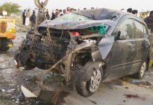 Five-dead-including-parents-of-IPS-in-a-fierce-road-accident-returning-from-a-marriage-function-in-up