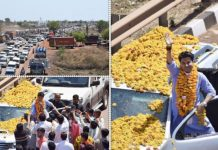 jyotiraditya-scindia-road-show-before-nomination-in-shivpuri