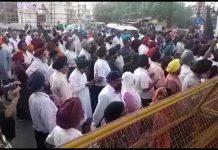 Protests-in-Jabalpur-against-Delhi-police-by-Sikh-community