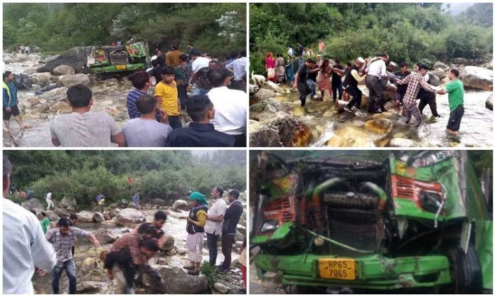 HIMIACHAL-PRADESH-accident-bus-fell-into-deep-gorge-in-kullu-district-