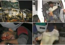 indore-road-accident-three-people-injurde-one-serious-MP