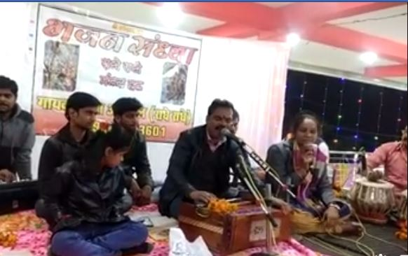 When-the-BSP-MLA's-house-in-the-BJP-leader's-house-sang-Bhajan