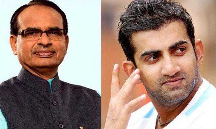 Shivraj-singh-chauhan-welcome-Gautam-Gambhir-after-joined-BJP