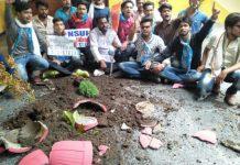 NSUI-worker-protest-in-university-jabalpur