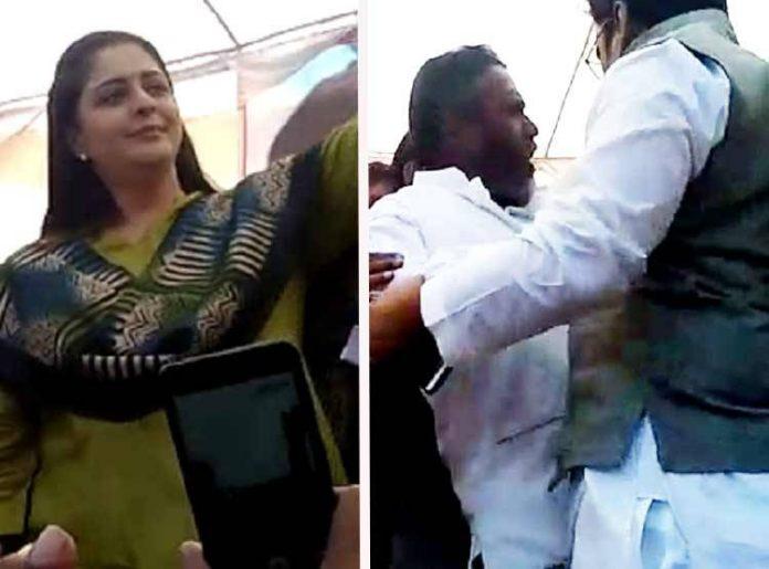 beatings-between-congress-workers-infront-nagma-mp-elections-in-shivpuri