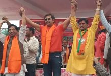 actor-ravikishan-attack-on-congress-candidate-in-rally