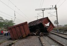 bogies-of-the-goods-train-derailed--Bhopal-Express-closed-to-Collide-