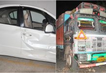 Ujjain-adg-madukumar-car-collided-with-truck-was-returning-from-mahakal-darshan