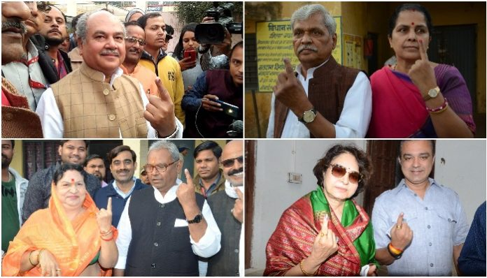 MP-ELECTION--Four-MPs-and-three-ministers-voted-in-Gwalior