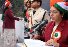 controversy-on-Shahdol-Collector-anubha-shrivastav-Saree-congress-objection-