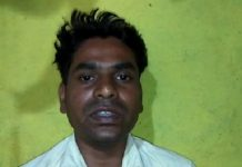 Three-people-flowing-with-bike-after-leave-water-from-kundalia-dam-