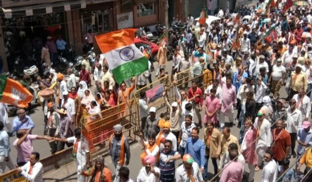 -Complaint-in-the-Election-Commission-on-floating-the-Tricolor-in-the-nomination-rally-against-BJP-candidate