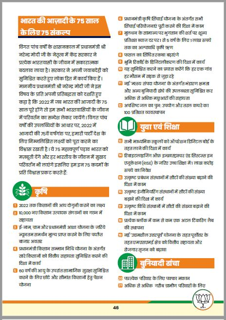 LOKSABHA ELECTION: बीजेपी ने जारी किया 'संकल्प पत्र', जनता से किये यह बड़े वादे