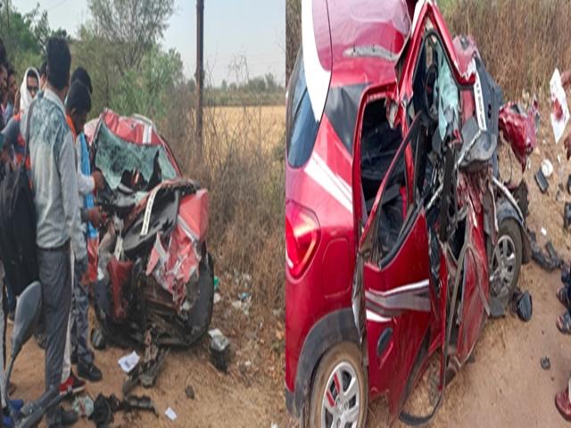 Harda Accident : डंपर-कार की टक्कर में 4 की मौत, एक महिला घायल