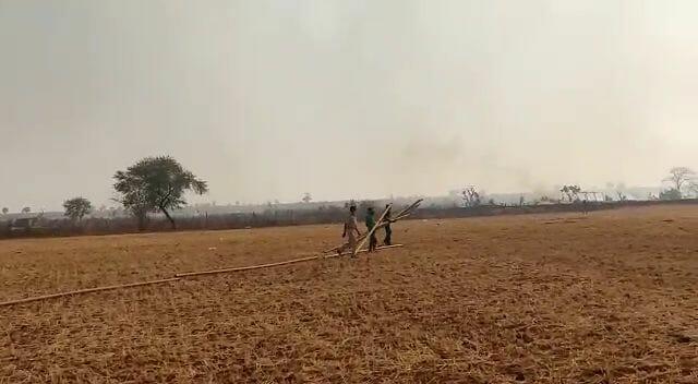 पन्ना टाइगर रिजर्व से सटे करकोई के जंगल में लगी भीषण आग