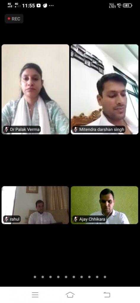 राहुल गांधी ने वीडियो कॉंफ़्रेंस पर की मीटिंग, ग्वालियर के इस युवा नेता से की अंचल की बात
