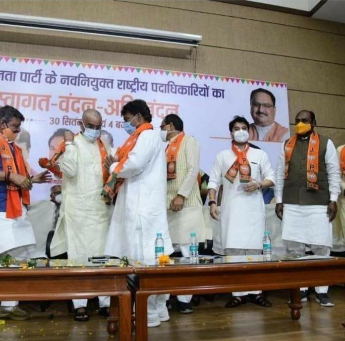 कांग्रेस को तिहरा झटका, तीन बड़े नेताओं ने छोड़ी पार्टी, भाजपा के कार्यक्रम में ली सदस्यता