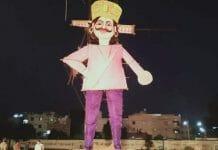 ravan effigy burnt indore
