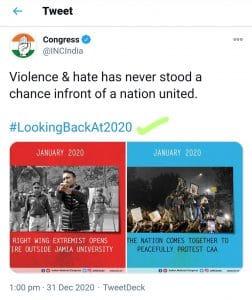 कांग्रेस ने चलाया #LookingBackAt2020, पिछले साल का लेखा-जोखा, ट्विटर पर ट्रेंड