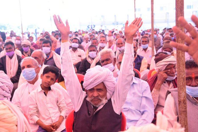 किसानों के दुश्मन फैला रहे है कृषि कानून पर झूठ : रामेश्वर शर्मा