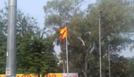 MP News : कांग्रेस कार्यालय के बाहर भगवा ध्वज देख कांग्रेसियों ने जताई साजिश की आशंका