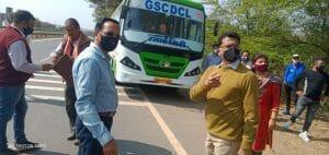हादसे से बेखौफ ओवर लोड बसें दौड़ रहीं सड़क पर, CM के गुस्से के बाद ट्रांसपोर्ट अमले की खुली नींद, मंत्री भी सड़क पर