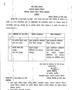 Transfer: प्रदेश में राप्रसे अधिकारियों के तबादले, यहां देखे लिस्ट