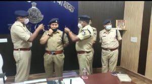 Datia News : पुलिस अधीक्षक कार्यालय में आयोजित हुई स्टार सेरेमनी