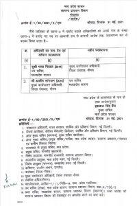IAS Transfer: मध्य प्रदेश मे आईएएस अधिकारियों के तबादले, यहाँ देखें लिस्ट